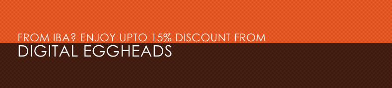 From IBA? Enjoy Upto 15% discount from Digital Eggheads